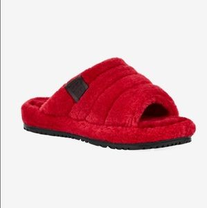Red UGG Fluff You Slippers